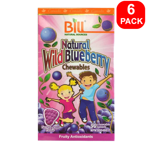 Bill Natural Wild Blueberry 90ct 6 units