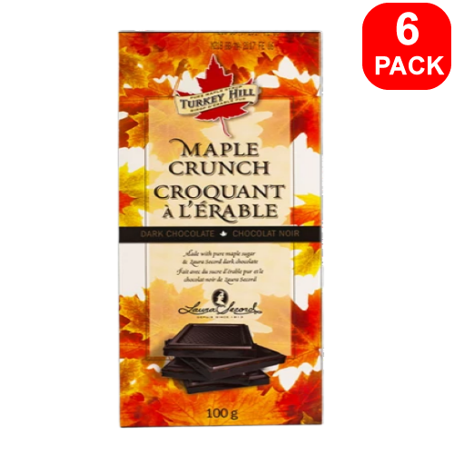Turkey Hill Maple Crunch Milk Chocolate Bar 100g 6 Units