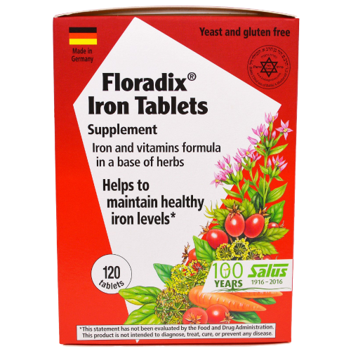 Salus Floradix Iron Tablets 120ct