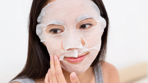 Women with K-Beauty Face Mask 2