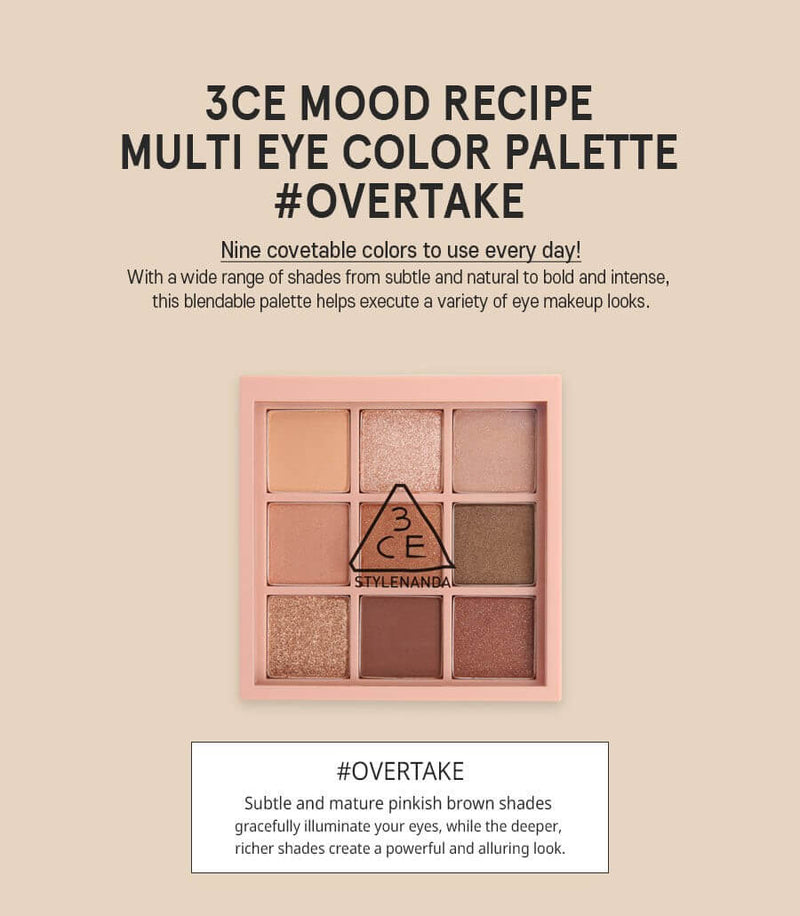 Mood Recipe Multi Eye Color Palette - 3 Types