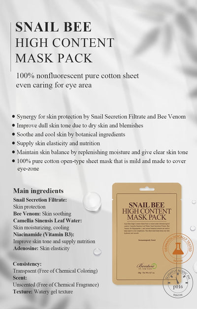 Snail Bee High Content Mask Pack (1pc)