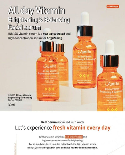 All Day Vitamin Brightening & Balancing Facial Serum 30ml