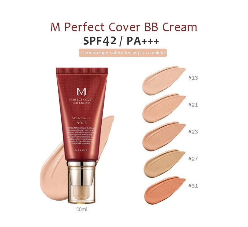 M Perfect Cover BB Cream SPF42 PA+++ (5 Colors)