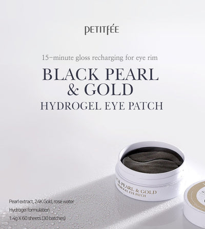 Black Pearl & Gold Eye Patch