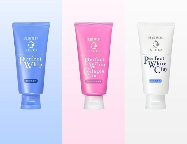 Senka Perfect Cleansing Foam - 3 Types