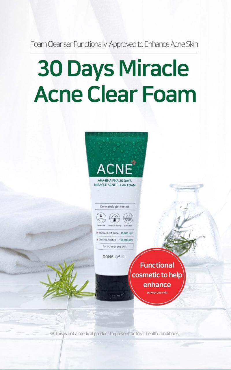 AHA, BHA, PHA 30 Days Miracle Acne Clear Foam