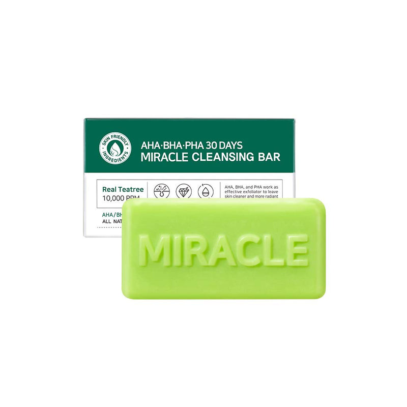 AHA, BHA, PHA 30 Days Miracle Cleansing Bar
