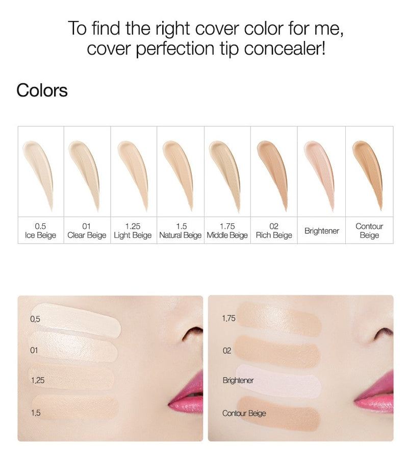 Cover Perfection Tip Concealer SPF28 PA++ (1pc)
