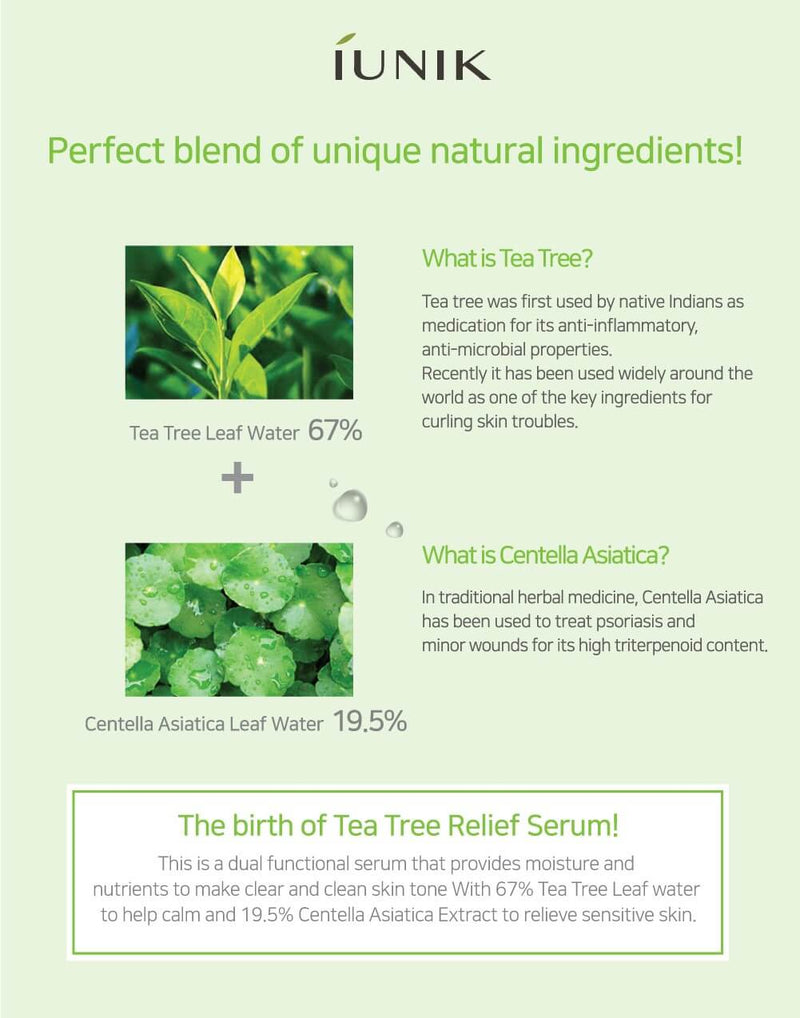 iUNIK Tea Tree Relief Serum (50mL)