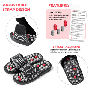 Plantar Fasciitis Foot Massager, Reflexology Massage Slippers Shoes Sandals