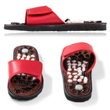 BYRIVER Rock Stone Acupressure Slippers Reflexology Foot Massager