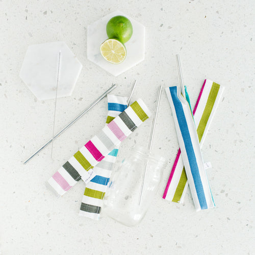 Stainless Steel Straw Kit - Ensemble de Pailles en métal
