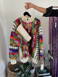 Norma Rainbow Knit Sweater with Hat - Just Say Native Pop Up