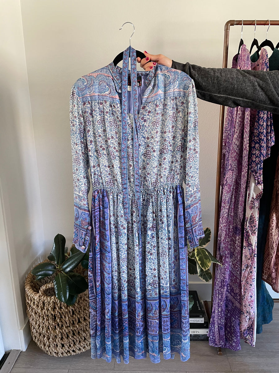 Ritu Kumar Periwinkle Silk w/ Waist -Just Say Native Pop Up