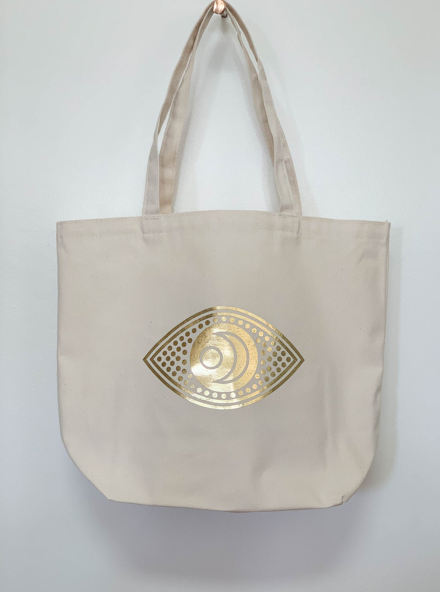 Highbrow Hippie Seeing Eye Tote Bags