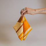 Vintage Orange and Mustard Yellow Accent Scarf