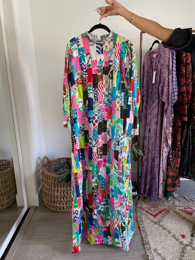 Patchwork Print Cotton Caftan - Just Say Native Pop Up