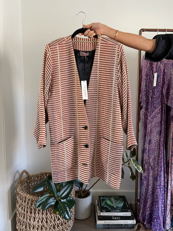Deborah Cross Fiber Art Jacket - Just Say Native Pop Up