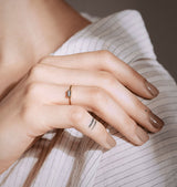 Cut ring clear • silver