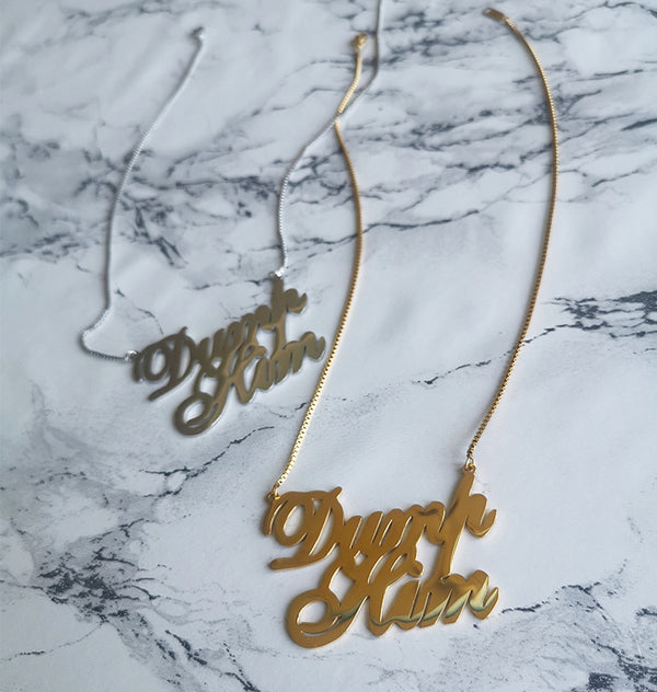 Dump him necklace • guld