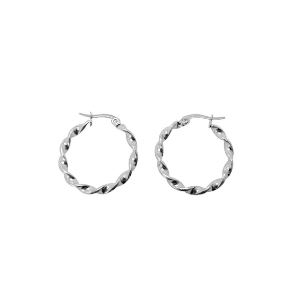 Fold earrings • silver 24mm