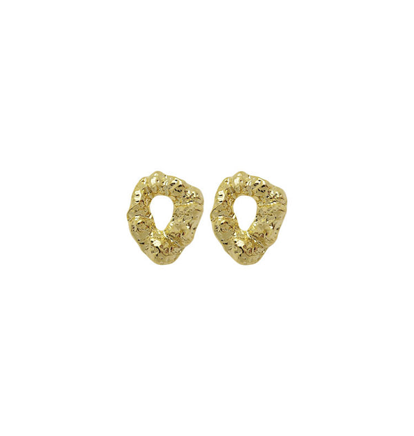 sol earrings • gold