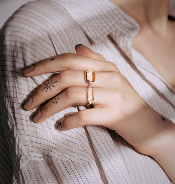 Roca citrin ring • silver