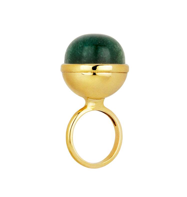 Sphere ring • green