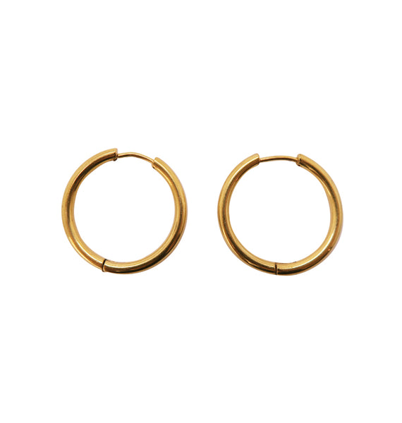 Thick gold hoops • 31mm