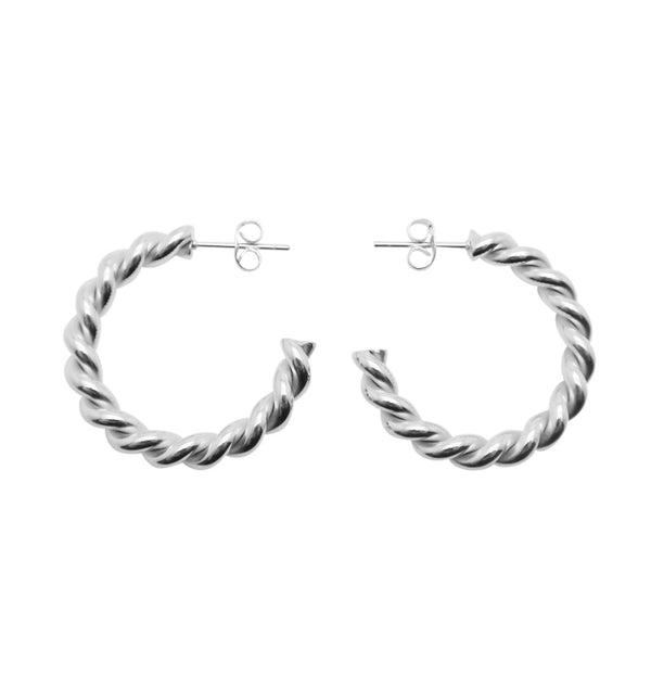 Twine earrings • silver