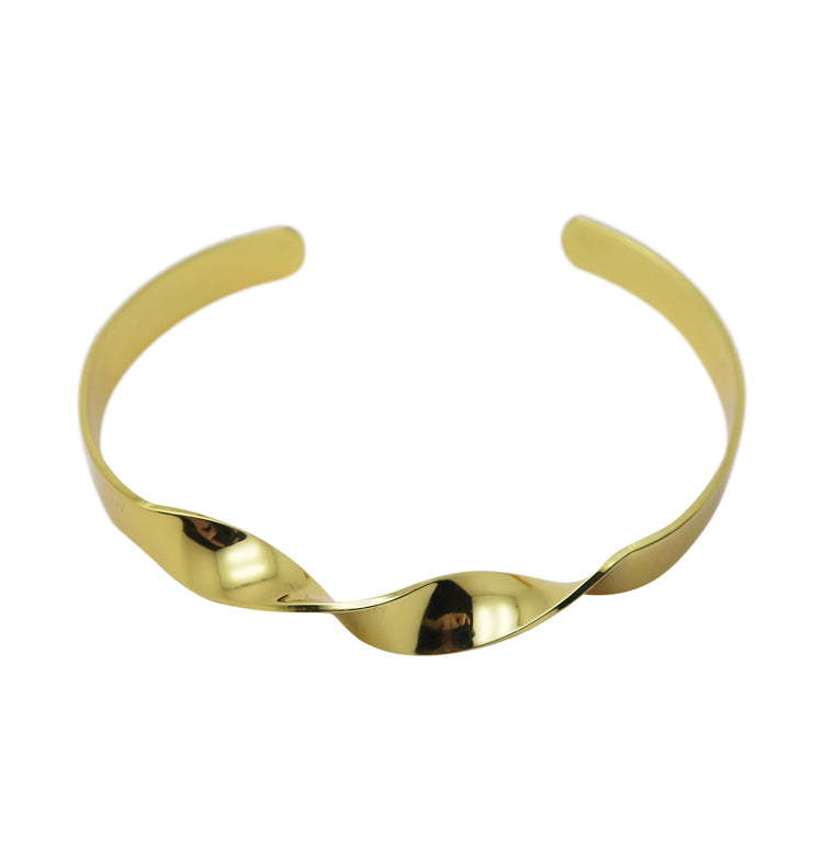 Twist drop bracelet • gold