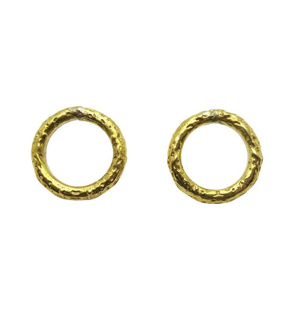 ACE earrings brass