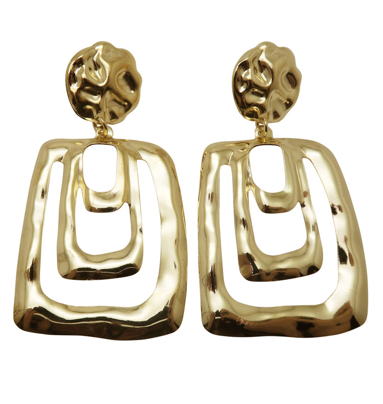 Chunk • earrings gold