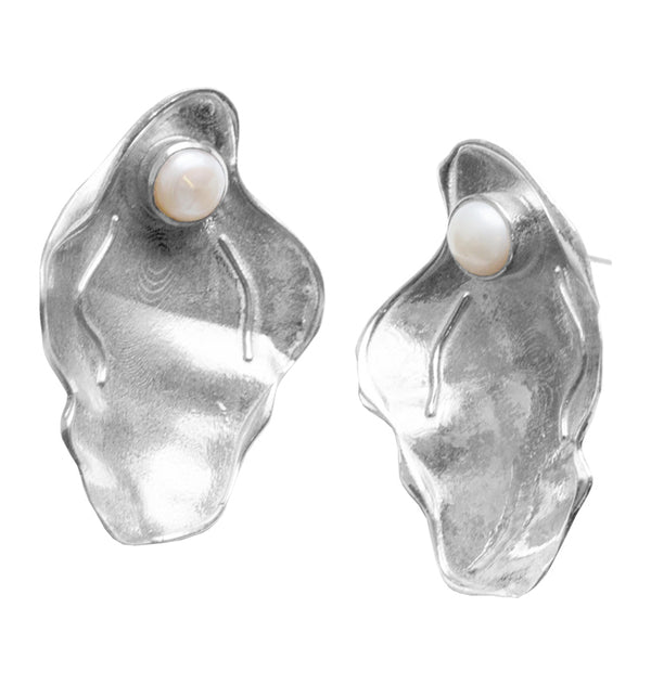 CLAM earrings • silver