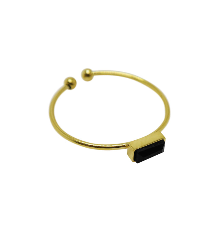 Cut ring black • guld