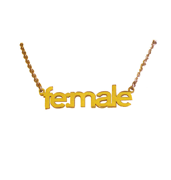 fe:male necklace • gold