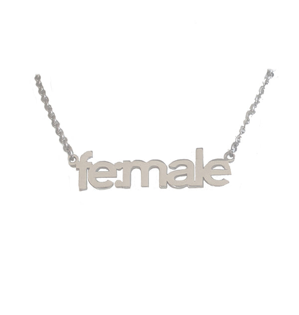 fe:male necklace • silver