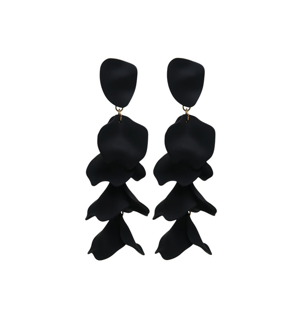 Flake earrings black