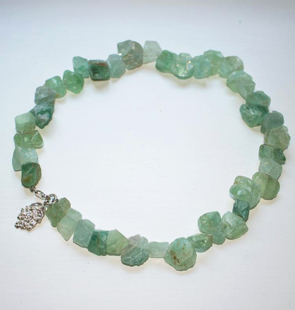 Frost necklace green fluorite