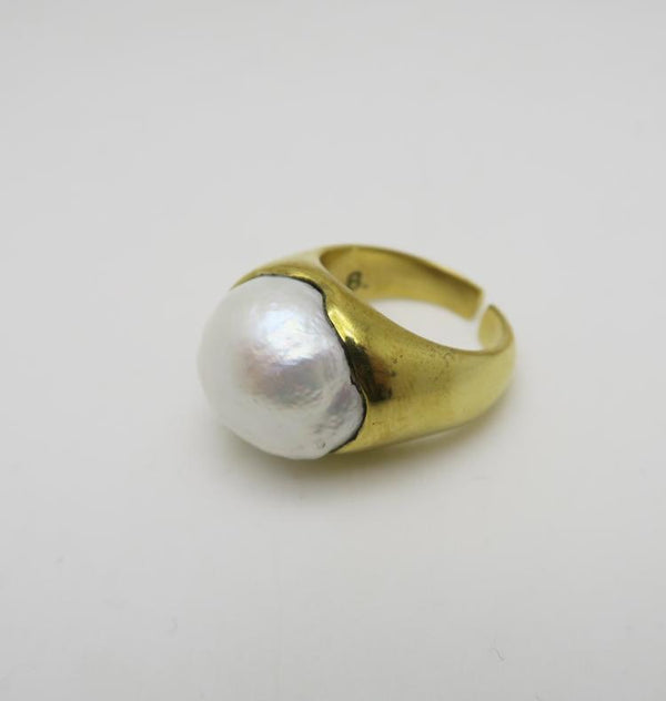 Gem ring brass