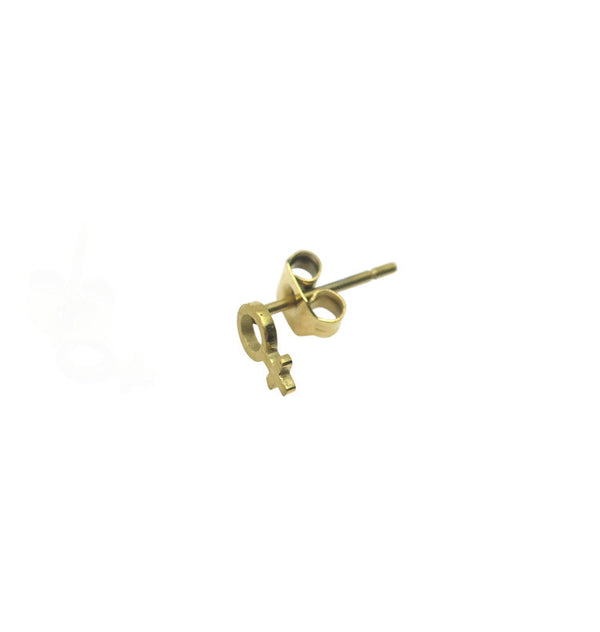 Gudrun mini single earring gold