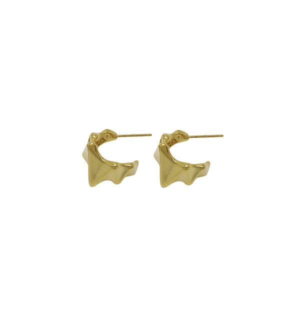 heartbeat earrings • gold