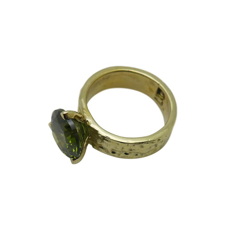 HITCHED • green brass