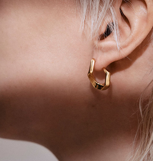 Krok earrings • gold