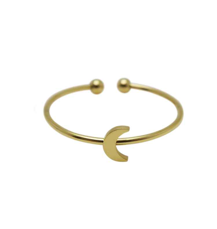 Moon ring • gold