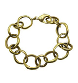 NO STRINGS bracelet • brass
