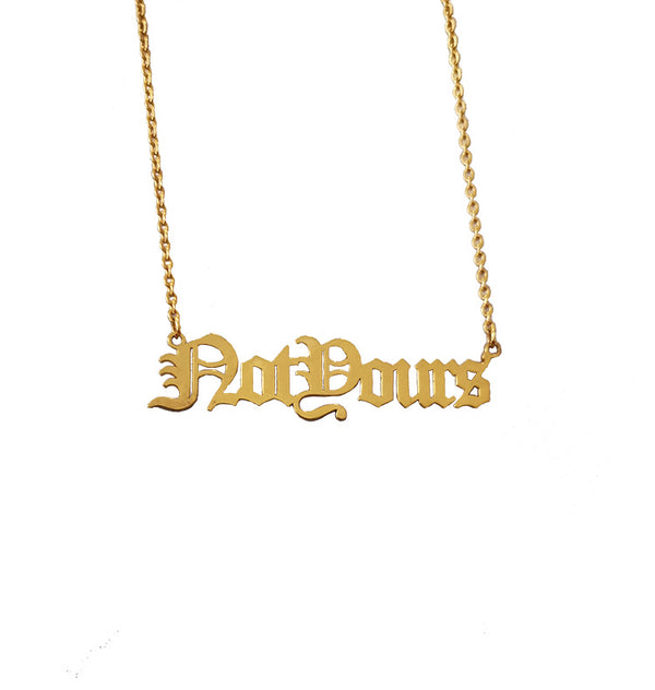 fe:male not yours necklace • gold