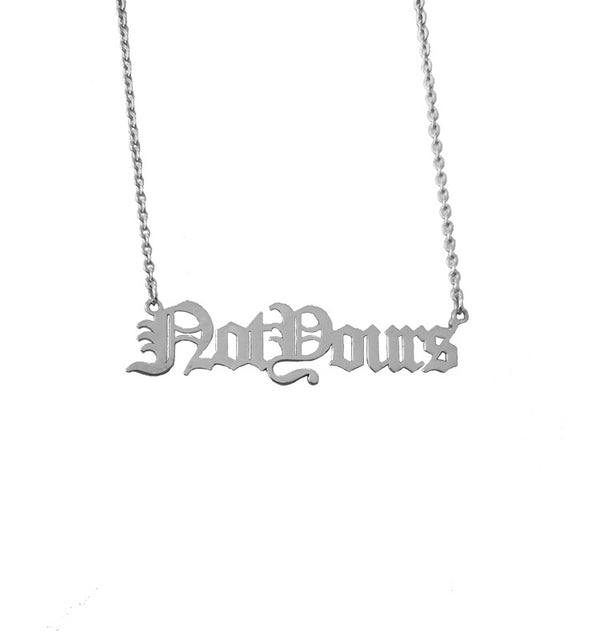 fe:male not yours necklace • silver