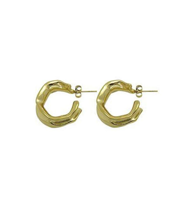 risky road • earrings gold